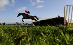 RACE WINNER Horizontal Speed ridden by Richard Johnson clears a flight - RACE 3 - 13.45 - totequadpot Four Places In Four Races Novices« Hurdle - PHOTO mandatory by-line: Dan Mullan/Pinnacle - Photo Agency UK Tel: +44(0)1363 881025 - Mobile:0797 1270 681 - VAT Reg No: 768 6958 48 - 30/12/2013 - EQUESTRIAN - HORSE RACING - Taunton Racecourse, Taunton, Somerset.