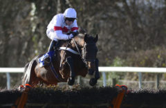 RACE WINNER The Happy Warrior ridden by Gary Derwin clears the last - RACE 1 - 12.40 - totejackpot Conditional Jockeys« Handicap Hurdle - PHOTO mandatory by-line: Dan Mullan/Pinnacle - Photo Agency UK Tel: +44(0)1363 881025 - Mobile:0797 1270 681 - VAT Reg No: 768 6958 48 - 30/12/2013 - EQUESTRIAN - HORSE RACING - Taunton Racecourse, Taunton, Somerset.