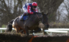 RACE WINNER Horizontal Speed ridden by Richard Johnson clears the last - RACE 3 - 13.45 - totequadpot Four Places In Four Races Novices« Hurdle - PHOTO mandatory by-line: Dan Mullan/Pinnacle - Photo Agency UK Tel: +44(0)1363 881025 - Mobile:0797 1270 681 - VAT Reg No: 768 6958 48 - 30/12/2013 - EQUESTRIAN - HORSE RACING - Taunton Racecourse, Taunton, Somerset.